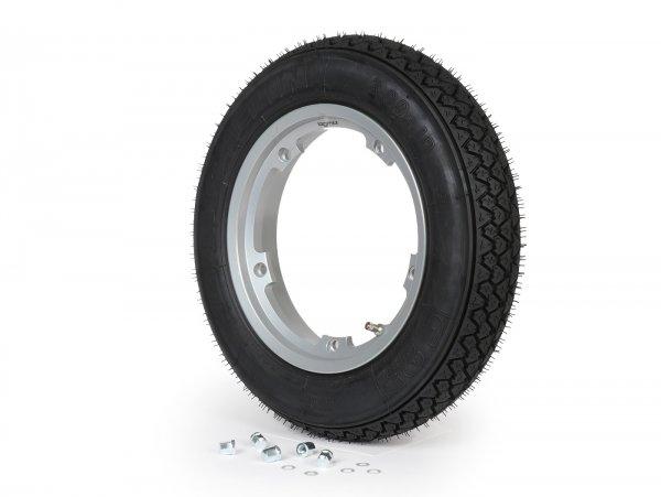 Wheel -MICHELIN S83, tubeless, Vespa Smallframe V50, PV, ET3, PK- 3.00 - 10 inch TL 42J - wheel rim BGM PRO 2.10-10 Aluminium - silver