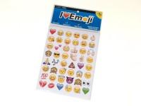 Set adesivi -I love Emoji- Emoticons - 20 fogli - 960 pezzi