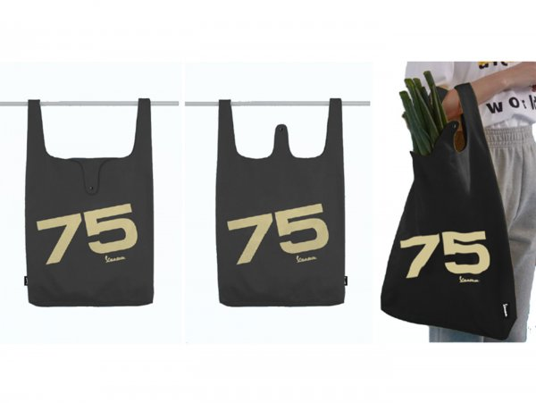 "Bolsa portadora -VESPA ""75th Anniversary"" 35x35x10cm- 100% algodón"