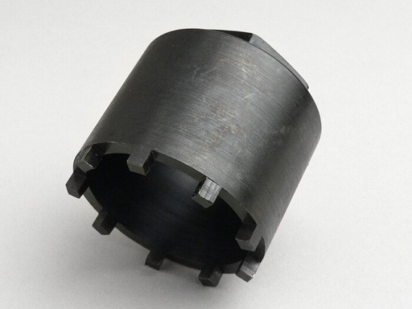 Herramienta desmontaje tuerca almenada rodamiento rueda trasera -VESPA Ø=54mm, 9 dientes- Vespa GS160 (VSB1T, VSB2T), SS180 (VSC1T)