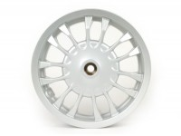 Cerchio ruota posteriore -PIAGGIO 3.00-12 pollici, Ø tamburo freno = 140mm - 14 razze- Vespa Sprint 50 (ZAPC53101), Sprint 125, Sprint 150 - argento
