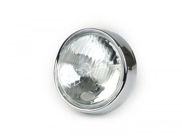 Scheinwerfer -SIEM Ø=115/120mm (Glas/außen)- Vespa VNB3T bis VNB6T, VBA1T, VBB1T bis VBB2T, GS150 / GS3 (VS4T bis VS5T), GS160 / GS4 (VSB1T) - Glas, inkl. Zierring (ohne Scheinwerferstecker)