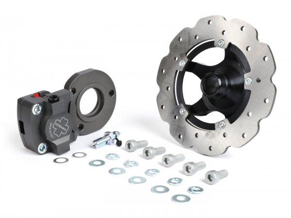 Rear disc brake set -CRIMAZ- Vespa Smallframe V50, PV125, ET3, PK, ETS - Rim from Vespa ET2/ET4 is required