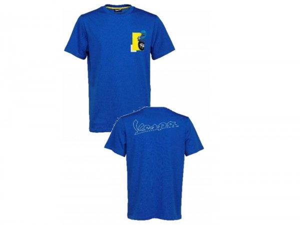 "Camiseta -VESPA ""Heritage Collection""- azul - L"
