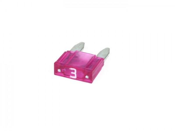Fuse -FLAT-FUSE (Type MINI, FK1) -3A - violet