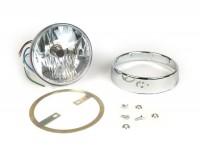 Headlight set clear lens -JOCKEYS 12V 35/35W HS1 (H4)- Lambretta LI (series 3)