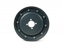Wheel rim -MAURO PASCOLI 2.10-10 inch, steel, smooth surface- Vespa GS150 (VS1-4), Messerschmidt GS3 (VD1T, VD2T) - also as wheel rim for conversion from 8 inch to 10 inch - dark grey