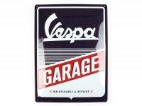 """Chapa de publicidad -Nostalgic Art- Vespa """"Garage"""", 15x20cm"""