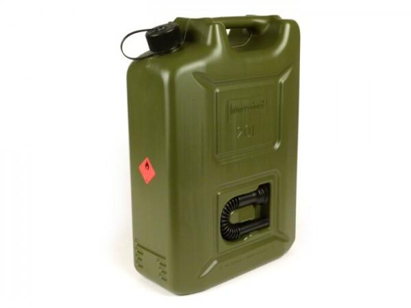 Bidón de gasolina 20l -HÜNERSDORFF PROFI- verde oliva