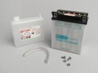 Batterie -Standard YB12-AL-A2- 12V 12Ah - 134x80x160mm (inkl. Säurepack)