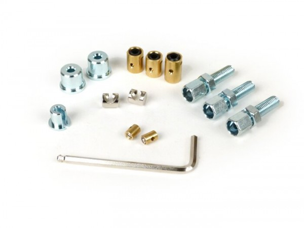 Adjuster screw and trunnion set -BGM ORIGINAL- Lambretta LI, LIS, SX, TV (series 2-3), DL, GP