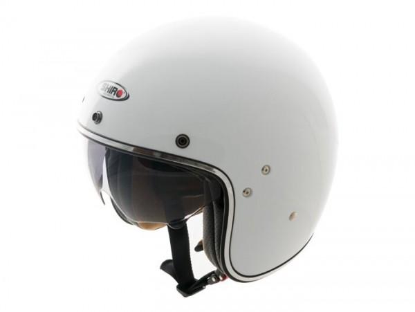 Helm -SHIRO SH235, Jet-Helm- weiß - S (55-56 cm)