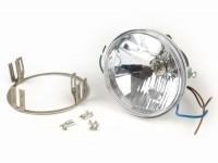 Headlight set clear lens -JOCKEYS 12V 35/35W HS1 (H4)- Lambretta Serveta Jet, seriess 80
