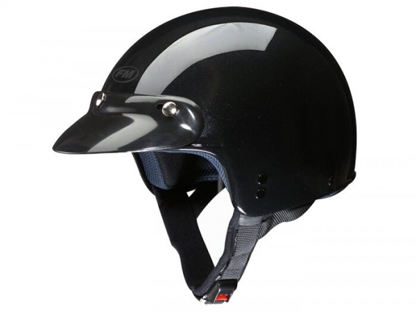 Casco -FM-HELMETS RS11P (Made in Italy)- casco jet nero - XS (53-54cm)