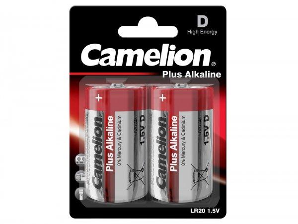 Pila Mono -CAMELION Plus Alkaline, D, LR20, 1.5 V- 2 unidades
