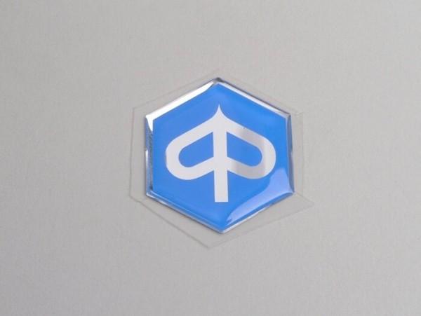 Schriftzug Kaskade -PIAGGIO- Piaggio Sechseck - Piaggio TPH, TPH X, NRG, NTT, Storm, Zip SP, Free - mit Chromrand