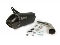 Auspuff -AKRAPOVIC slip on Edelstahl Black Edition- Vespa GTS 300 / GTV 300 (2017-) Euro4 - ohne Katalysator