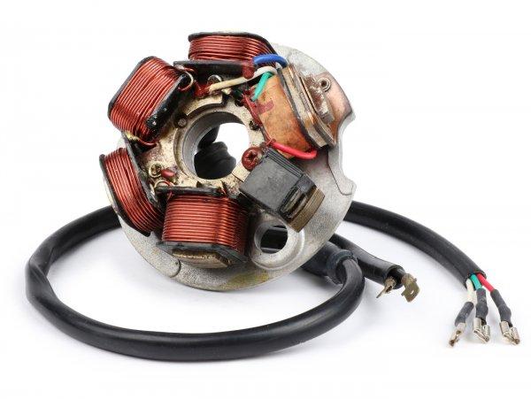 Encendido -LML PL170 soporte bobinas completo- Vespa PK XL, XL2, ETS - también para conversión del encendido de la V50, PV125 a encendido electrónico - 5 cables