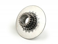 Clutch sprocket -DRT Vespa type 7 springs (Rally200, PX200, T5 125cc)- for primary gear Polini 64 tooth (straight) - 22 tooth
