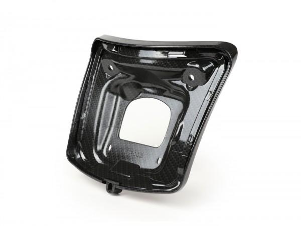 Rücklichtrahmen zur Umrüstung -MOTO NOSTRA für Montage alter Rücklichttyp bis Bj.2014 auf Fahrzeugen ab Bj.2014, carbon style- Vespa GTS 125 (ZAPMA3100, ZAPMA3200), Vespa GTS 150 (ZAPMA3200, ZAPMA3100), Vespa GTS 250 (ZAPM45100), Vespa GTS 300 (ZAPM4