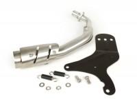 Exhaust manifold and bracket -REMUS slip-on- Ø=65mm, Euro4 - Vespa LX 125-150ie 3V, Vespa S 125-150ie 3V, Vespa Primavera 125-150ie 3V, Vespa Sprint 125-150ie 3V