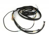 Kabelbaum -GRABOR- Vespa PX alt (Italien), 1981-1983, 12V Kontaktzündung, mit Spannungsregler, mit Blinker, ohne Batterie, Hupe AC (Schnarre), Zündgrundplatte mit 7-Kabel