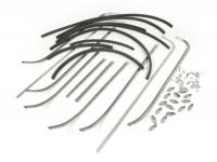 Trittleistensatz -MAURO PASCOLI- Vespa VNA1T (68032-), VNA2T, VNB1T, VNB2T - Leistenbreite 13,5mm