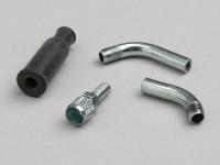 Throttle cable guide set -DELLORTO- M6 x  0.75 - 70°