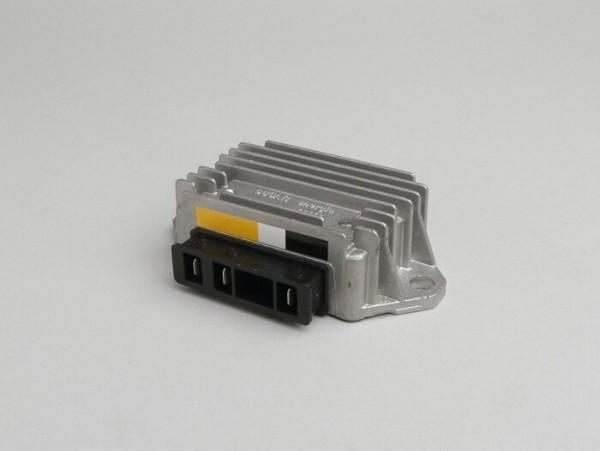 Spannungsregler -3-Pin 12V (G|G|Masse)- Vespa PX (ab Bj. 1984), T5 125cc, PK XL, V50 (4-fach Blinkanlage), Lambretta (e-Zündung)