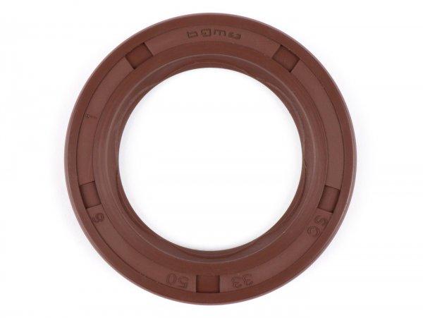 Wellendichtring 33x50x6mm -BGM PRO FKM/Viton® (E10 beständig)- (verwendet für Kurbelwelle Antriebseite Lambretta LI, LIS, SX, TV (Serie 2-3), DL, GP)