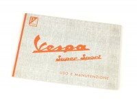 Owner's manual -VESPA- Vespa 180 Super Sport (1965)