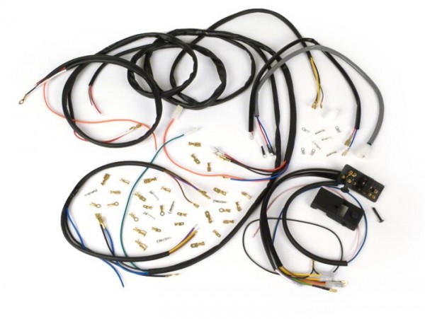 Kabelbaum-Set Conversion (inkl. Lichtschalter) -BGM PRO, Vespa AC Umrüstung auf Elektronische Zündung (Vespatronic) - Vespa Smallframe V50 Special
