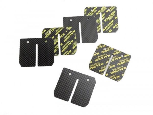 Láminas -MALOSSI MHR-Replica- Vespa Largeframe, Smallframe, Minarelli AM6 - carbono (0.3, 0.35, 0.4mm)