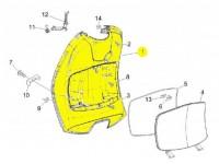 Gepäckfach -PIAGGIO- Vespa LX (ZAPC38, ZAPM44,ZAPM68), Vespa LXV (ZAPC38, ZAPM44,ZAPM68)
