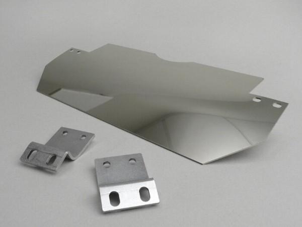 Splash plate set center stand -LAMBRETTA- LI (Series 1-2, till 09.1959), TV (Series 2, till 09.1959) - stainless steel