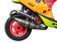 Exhaust -MALOSSI MHR Team 3,Testa Rossa, RC-One Ø52mm- Piaggio 50cc 2-stroke