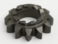 Kickstart sprocket -OEM QUALITY- Vespa V50, V90, SS50, SS90, PV125, ET3, PK S, PK XL  - teeth 12/10, Ø=20.5mm