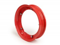 Wheel rim -OEM QUALITY 2.10-10 inch, steel - Vespa (type PX) - Vespa Smallframe V50, 50N, Special, PV, ET3, PK50-125 (S/XL/XL2), Largeframe PX, T5, Sprint, Rally, GT/GTR, LML Star, Deluxe - red