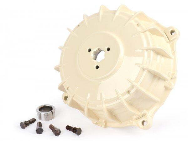 Bremstrommel hinten -UNI- Lambretta LI (Serie 3), LIS, SX, TV (Serie 3), DL, GP - creme weiss lackiert