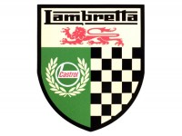 Adesivo -LAMBRETTA Castrol Lambretta checkered 70x85mm-