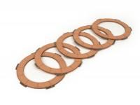 Clutch friction plate set -BGM PRO- Lambretta LI, LIS, SX, TV (series 2-3), DL, GP - 5 plates