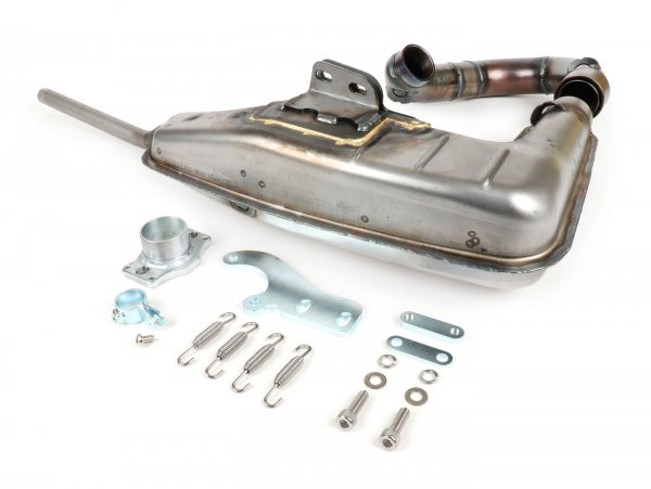 Auspuff -BGM PRO Clubman V4.0 für QUATTRINI M210- Lambretta Serie 1-3 - unlackiert
