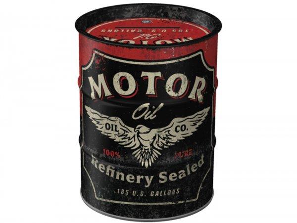 "Spardose -Nostalgic Art- ""Motor Oil"", Ø=9,3cm x 11,7cm, 1000ml"