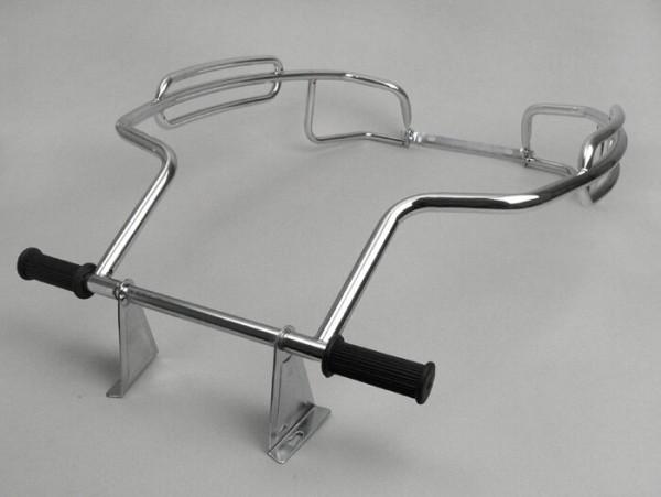 Sturzbügel hinten -AMS CUPPINI Triple Bar- Vespa PX80, PX125, PX150, PX200 - Chrom