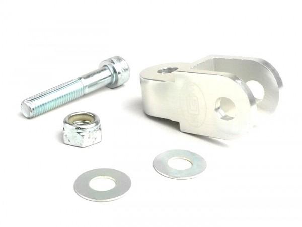 Shock absorber raiser -BGM- 40mm (M10 x 20mm, type Morini 50) - silver
