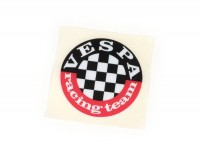Autocollant -VESPA Racing Team- Ø=60mm