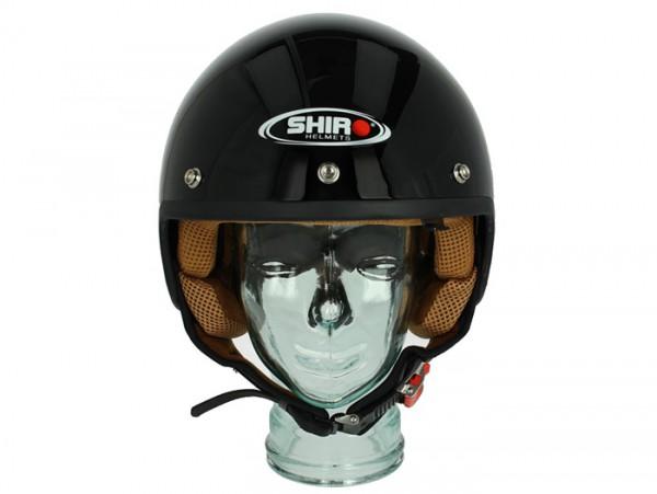 Helm -SHIRO SH206, Jet-Helm- schwarz - XL (61-62 cm)