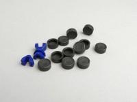 Kappen für Rollenkerne -POLINI- 16x13mm - Grau