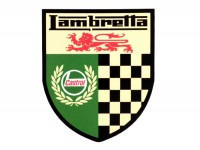 Adesivo -LAMBRETTA Castrol Lambretta checkered 55x45mm-