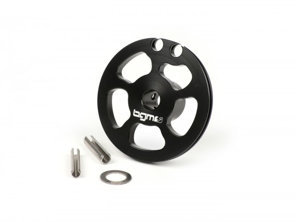 Gear change pulley -BGM Pro made by JPP - Lambretta LI (series 3, 1966-), LIS (1966-), SX, DL, GP - anodised black